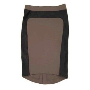🍁 MOSSIMO Bodycon Pencil Skirt Taupe Faux Leathe